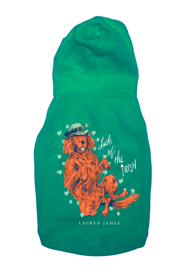 LUCK OF THE IRISH DOG HOODIE