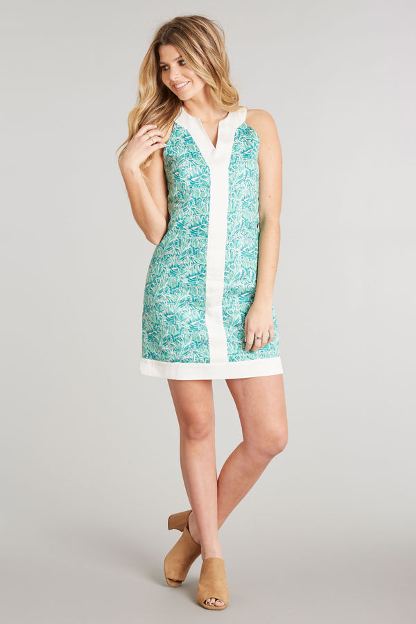 Shake Your Palm Palms Print - Adrienne Dress - Side