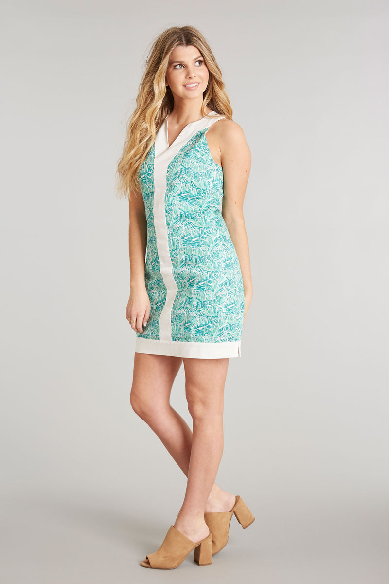 Shake Your Palm Palms Print - Adrienne Dress - Front 2