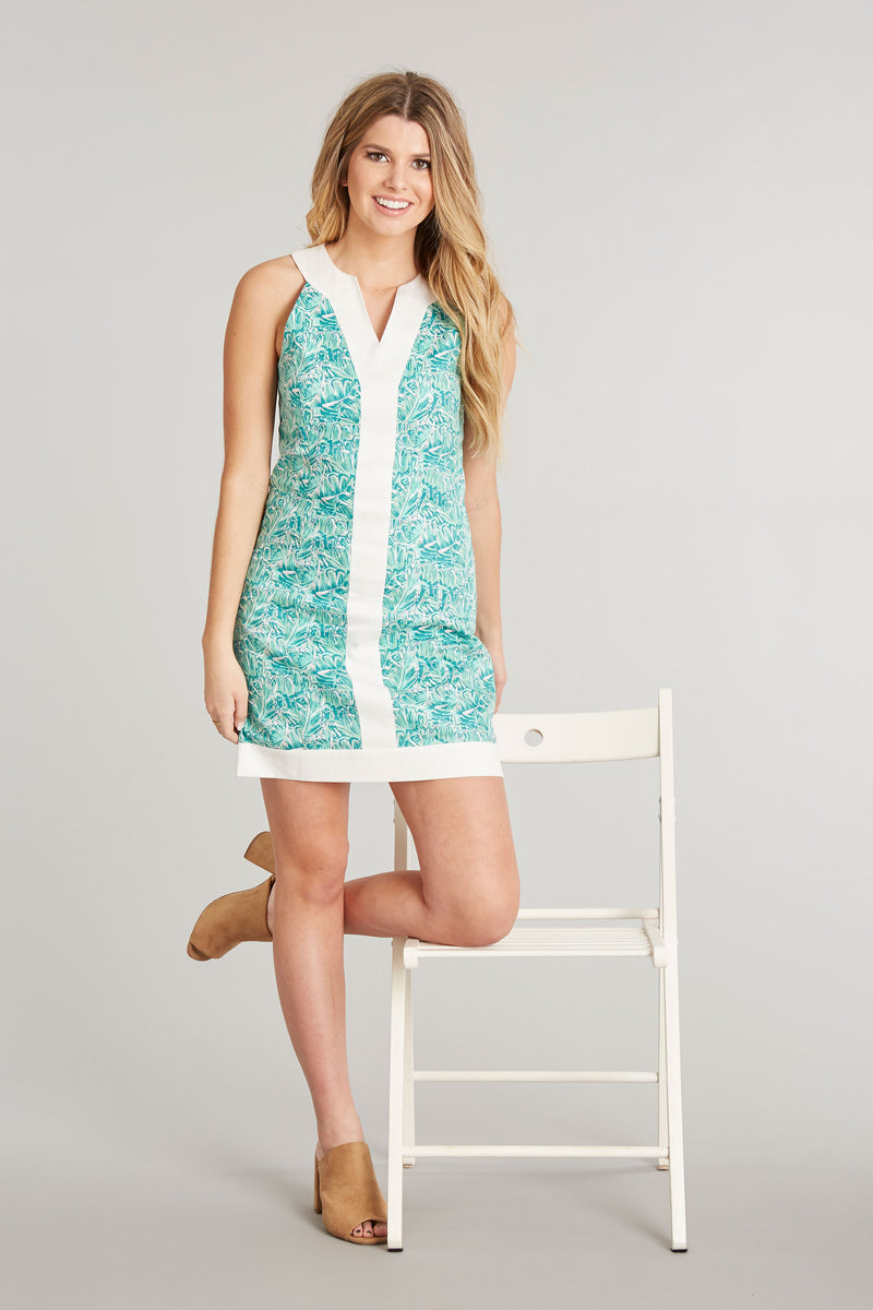 Shake Your Palm Palms Print - Adrienne Dress - Front 1