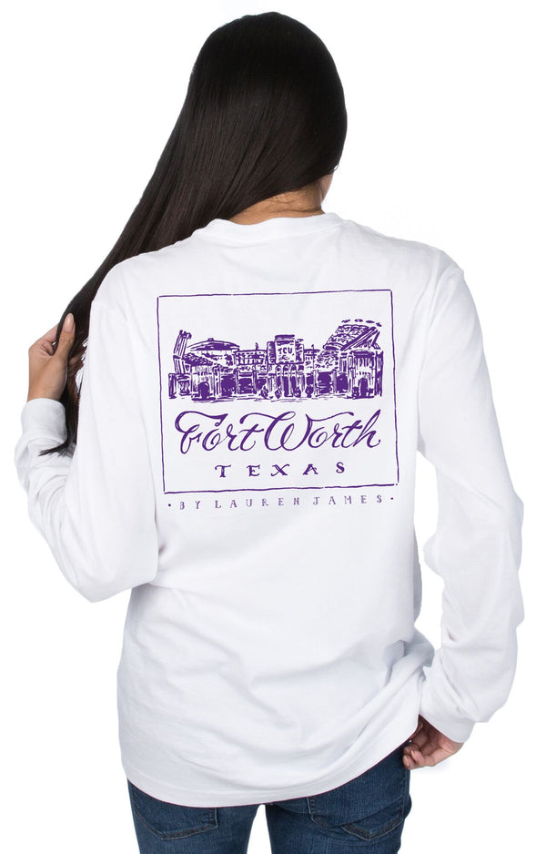 White - Texas Christian University STADIUM TEE - Back
