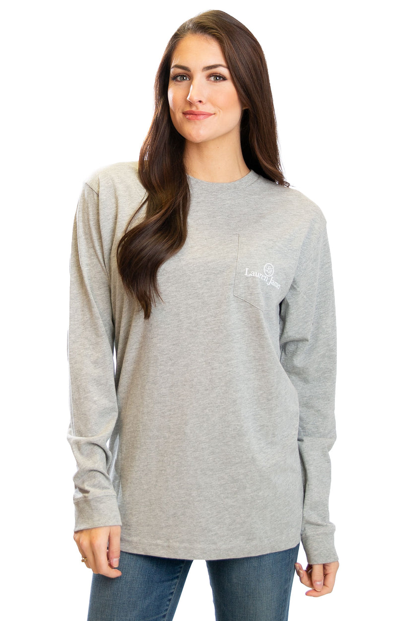 Heather Grey - Tough Pup L/S - Back