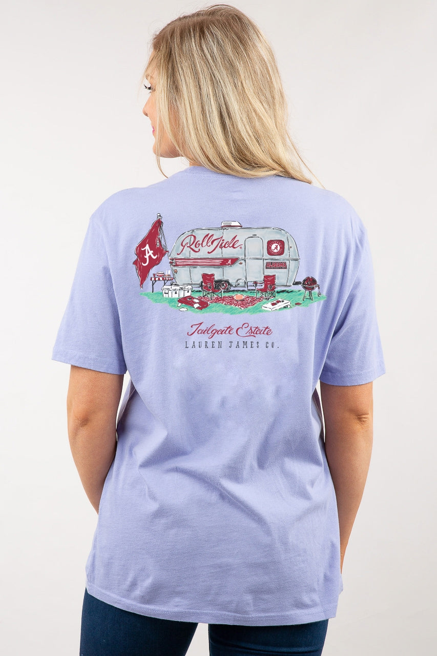 Short Sleeve Lollipop Pocket Tee, University of Alabama