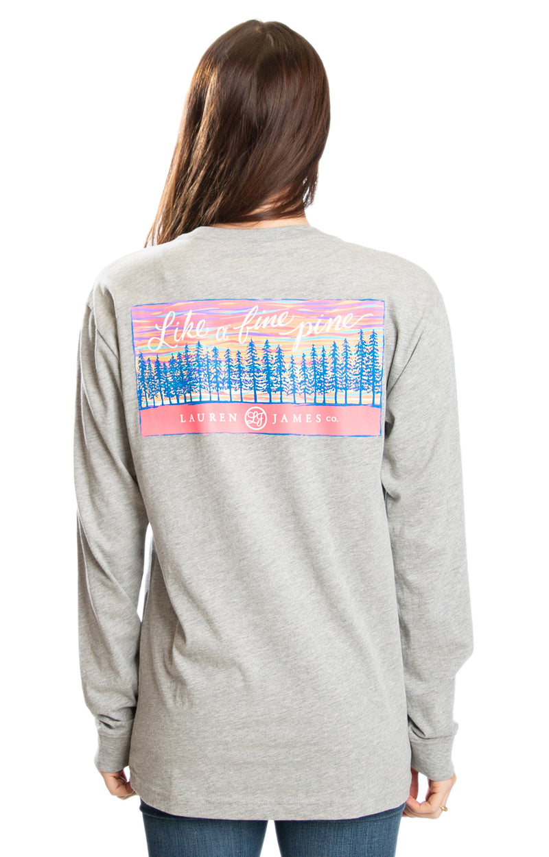 Heather Grey - Like a Fine Pine L/S - Front