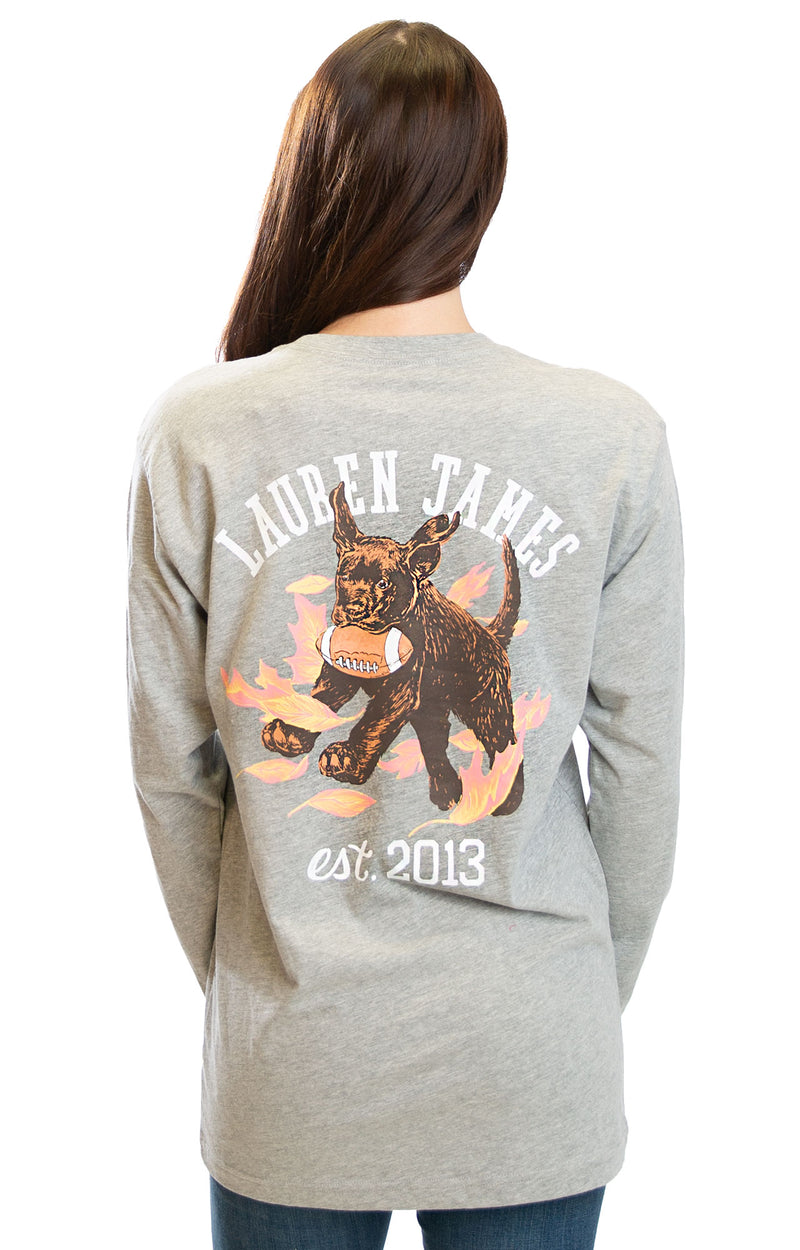 Heather Grey - Tough Pup L/S - Front