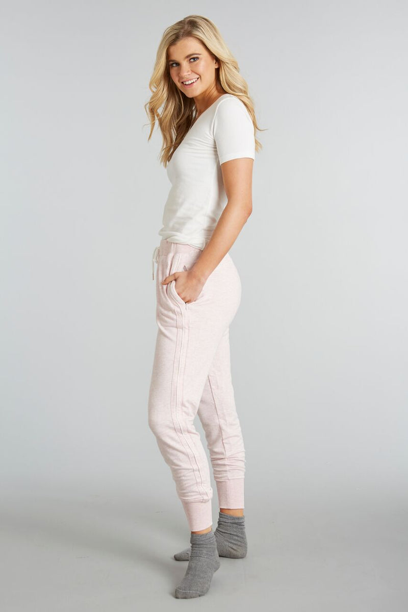 Heathered Blush - Evelyn Jogger - Side