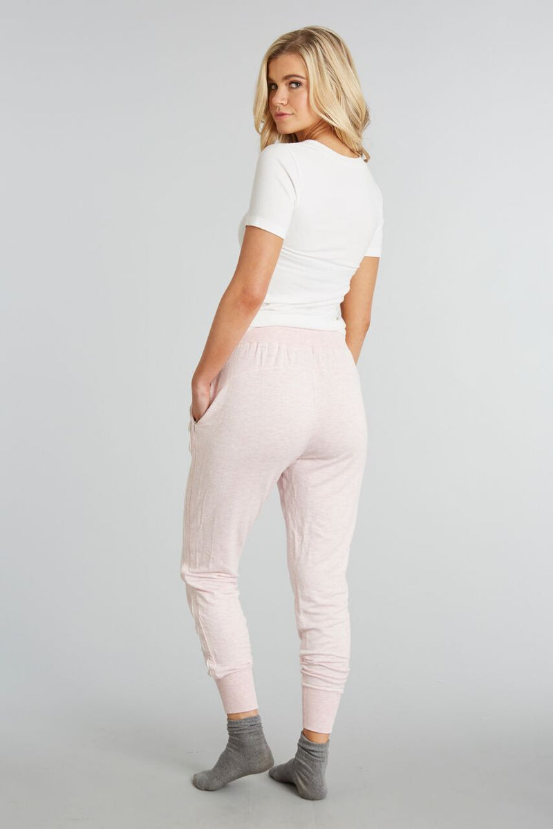 Heathered Blush - Evelyn Jogger - Back 1