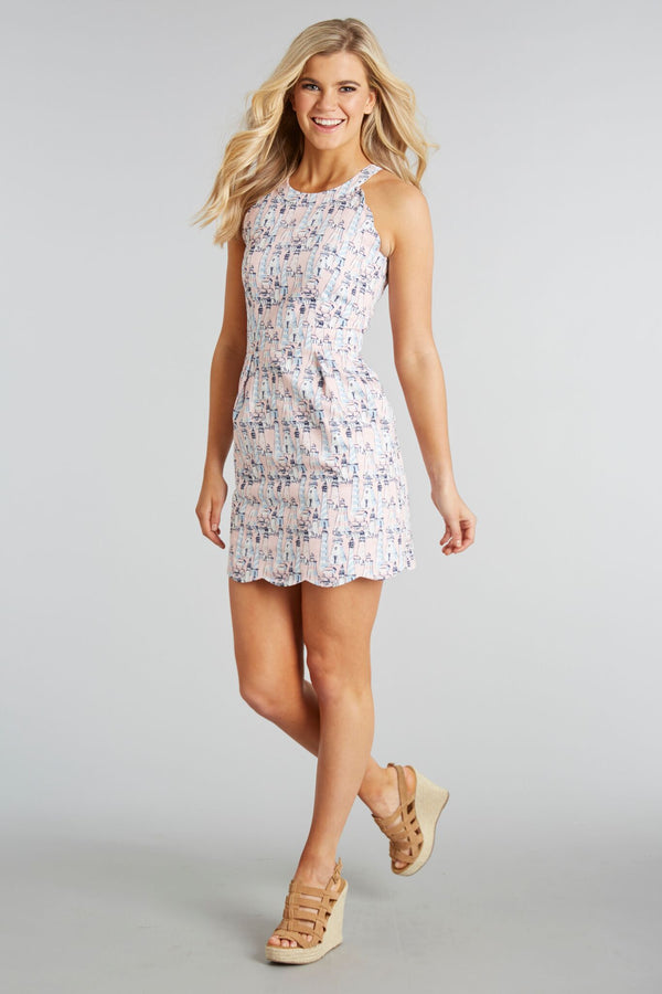 Nautical & Nice Print - Alaina Dress - Front