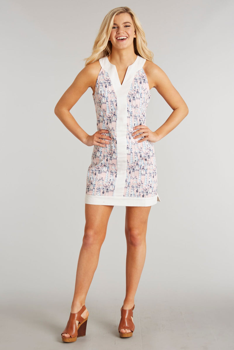 Nautical & Nice Print - Adrienne Dress - Front 2