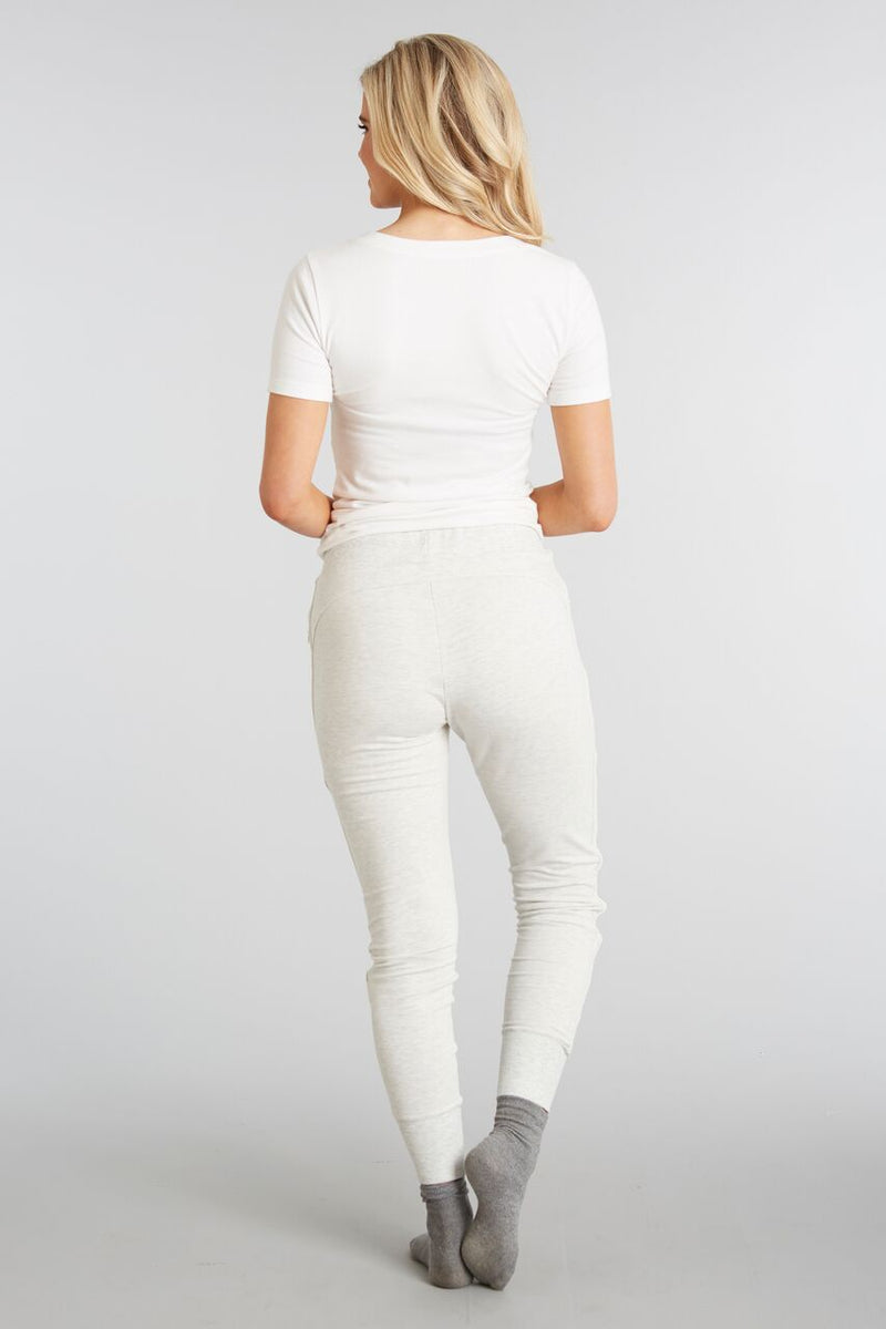 Heathered Ivory - Evelyn Jogger - Back