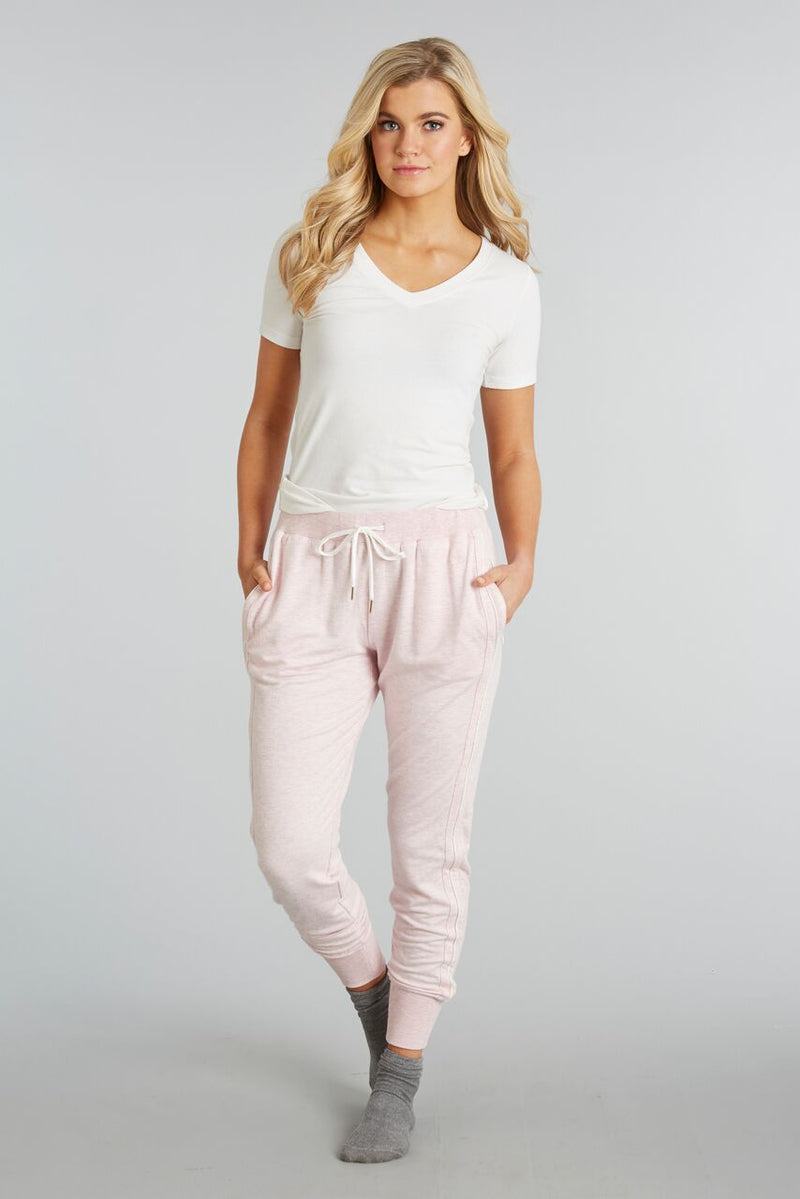 Heathered Blush - Evelyn Jogger - Front