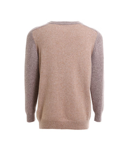 Dual Color Crew-Neck Sweater