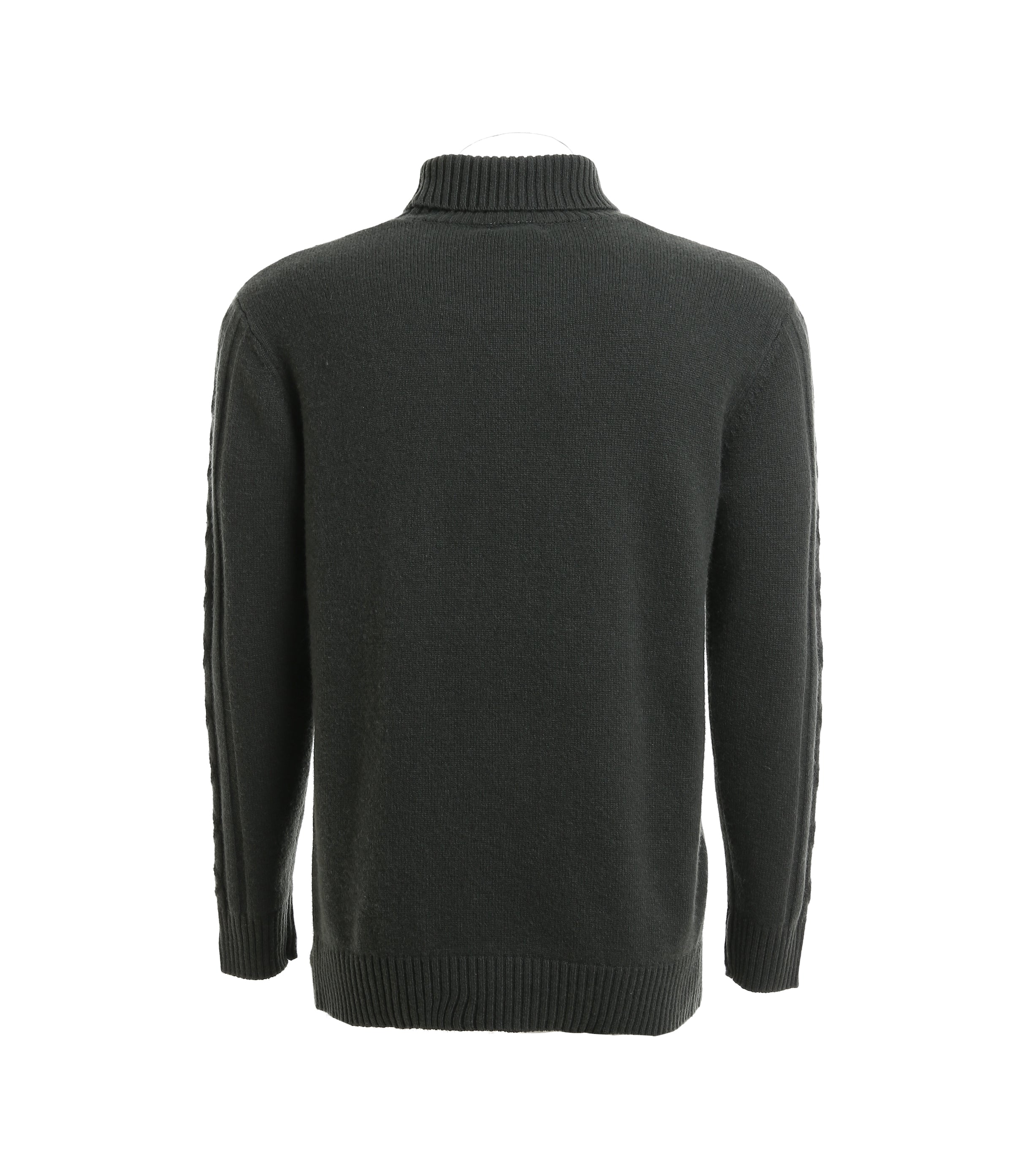 Cashmere Turtleneck Cable Knit Sweater