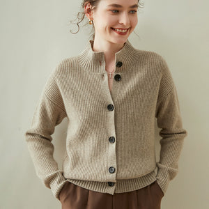 Mock Neck Cardigan