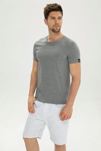 Grey Mercerized cotton Men T-shirt