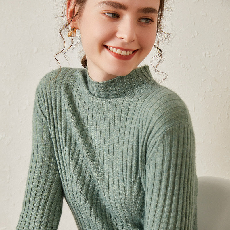 Ribbed A-line Sweater Dress
