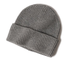 Knitted Cuffed Cashmere Hat
