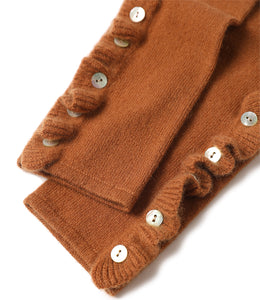 Button up Long Am Knitted Gloves