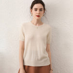 Load image into Gallery viewer, 100% Cashmere Half-Sleeved Sweater
