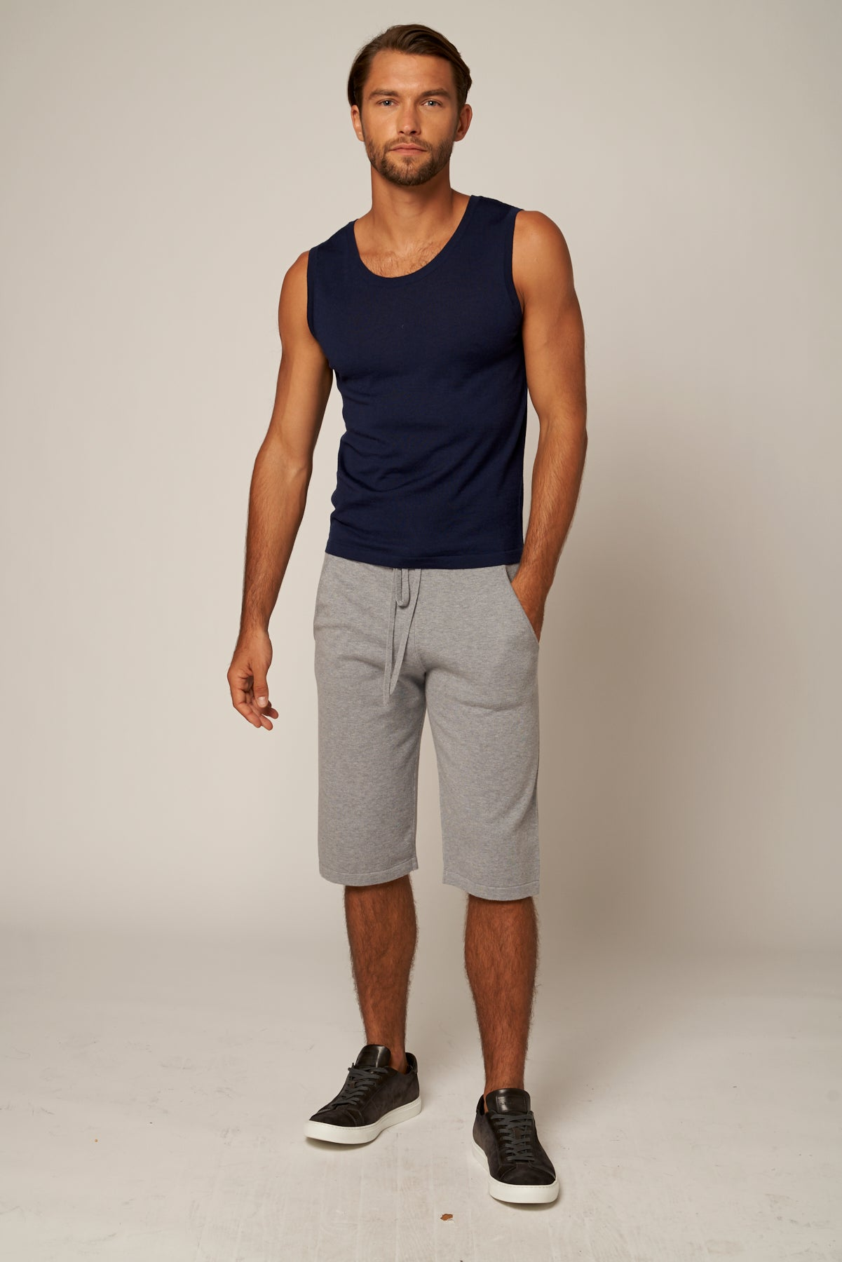 Cotton Cashmere Shorts