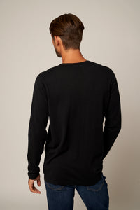 Trim Fit Cotton Cashmere Henley