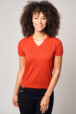 Load image into Gallery viewer, Cashmere V-Neck T-Shirt