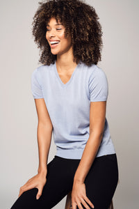Cashmere V-Neck T-Shirt