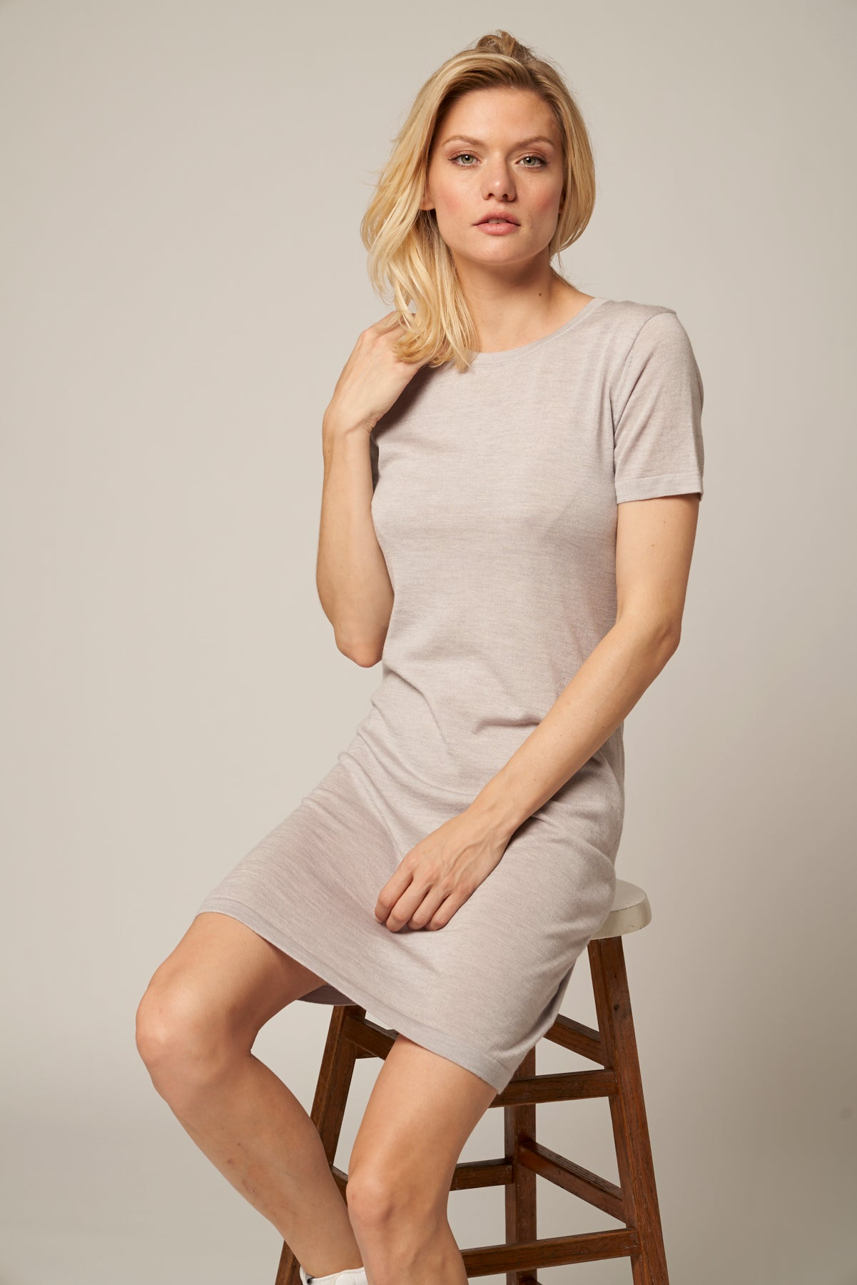 Merino Wool T-Shirt Dress