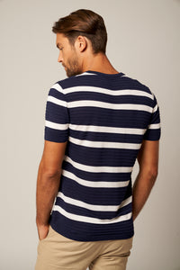 Striped Silky Tee