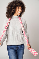Load image into Gallery viewer, Diamond Pattern Ribbed Turtleneck