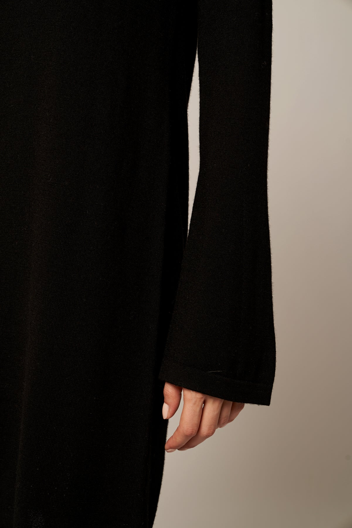 Wide Sleeved SuperFine Merino Wool Dress
