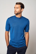 Load image into Gallery viewer, Worsted Cashmere High Neck Short Sleeve Tee