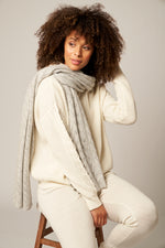 Load image into Gallery viewer, Cashmere Pointelle Scarf