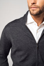 Load image into Gallery viewer, SuperFine Wool Zipper Cardigan