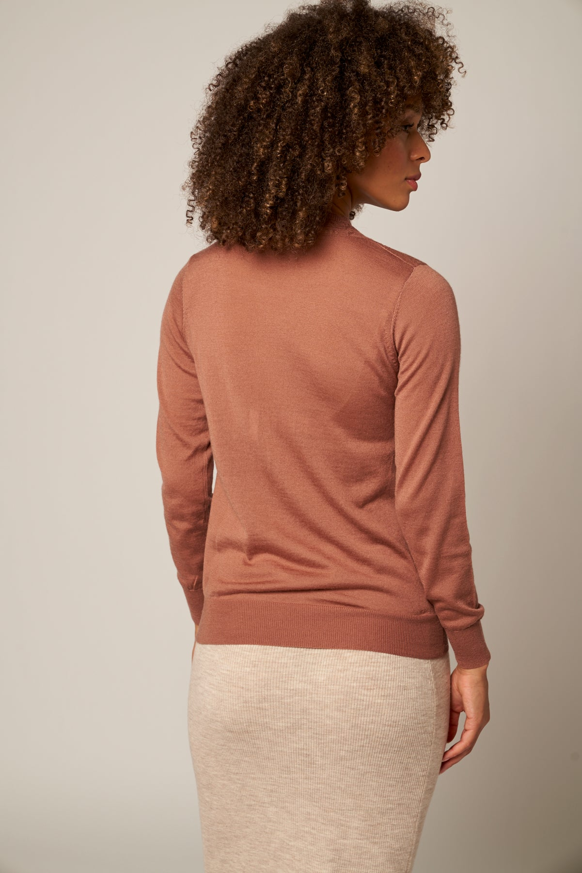 Merino Wool Pointelle Accented Sweater