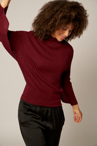 Winged Sleeve Wool Sweater