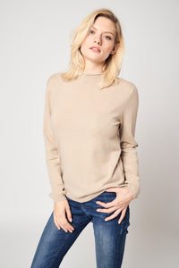 Rolled Neck Cashmere Pullover