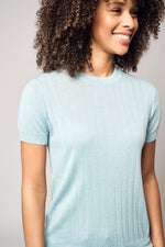 Lade das Bild in den Galerie-Viewer, Wide Ribbed Worsted Cashmere T-Shirt