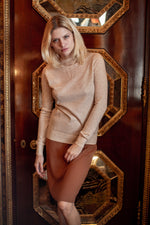 Load image into Gallery viewer, Merino Wool Pointelle Accented Sweater