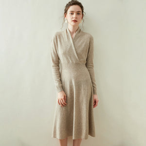 Cashmere Merino wool  Flared Dress