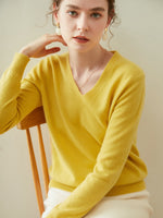 Load image into Gallery viewer, Woolen Cashmere V-Neck Sweater