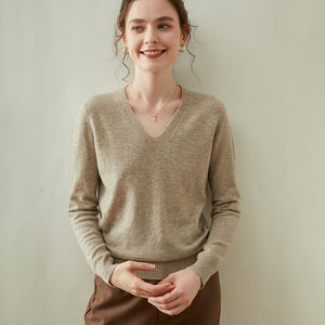 Woolen Cashmere V-Neck Sweater