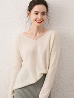 Load image into Gallery viewer, 100% Cashmere Wide Neck Sweater
