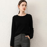 Load image into Gallery viewer, 100% Cashmere round neck Sweater
