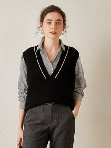 Trendy V-Neck Sweater Vest