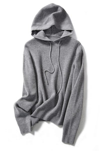 Pullover with Hoodie Super Fine Wool