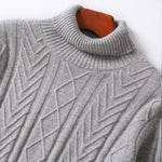 Load image into Gallery viewer, Cashmere Turtleneck Cable Knit Sweater