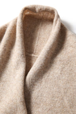 Load image into Gallery viewer, Mock Wrap Cashmere Sweater