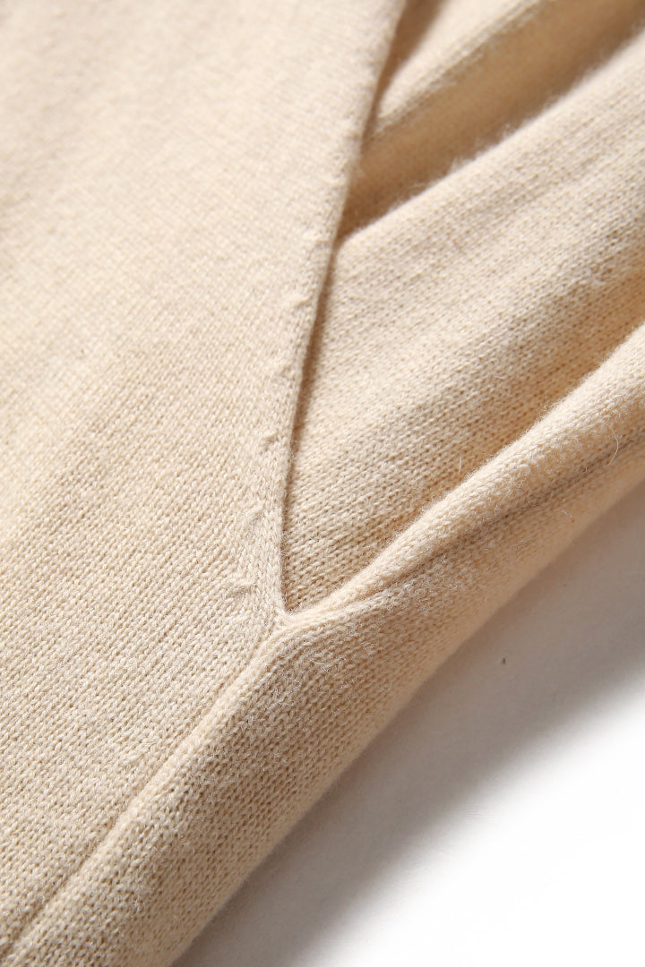Mock Wrap Cashmere Sweater