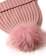 Load image into Gallery viewer, Fur Pom Beanie